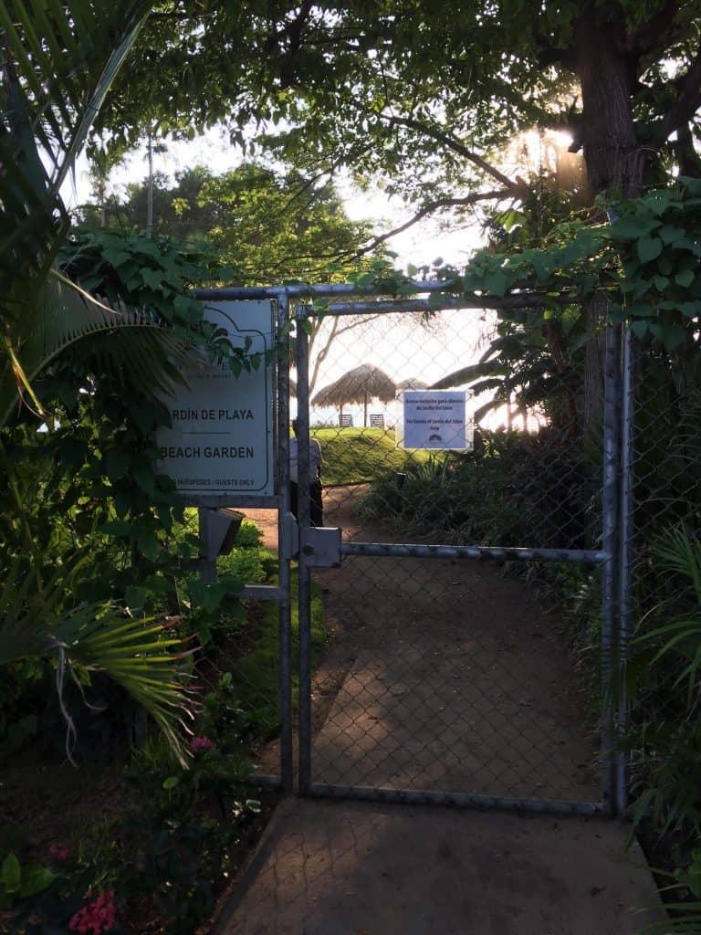 jardin del eden adults only hotel guanacaste private beach garden gate