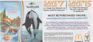 mc donalds sea world coupons