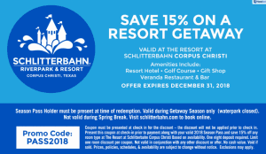 resort getaway coupon 2018 Schlitterbahn Waterpark Season Pass Holder