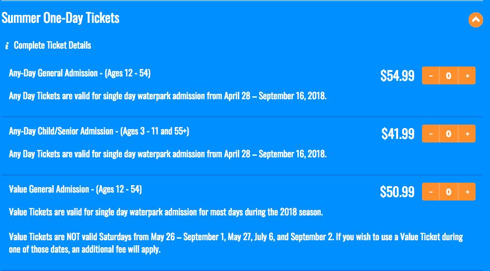 schlitterbahn ticket pricing 2018 new braunfels