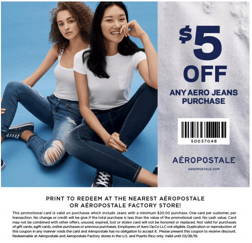 2019 aeropostale printable coupon february 2019 january 2019