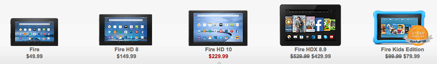 Amazon Deals on Kindles and Kindle Fire kids for family