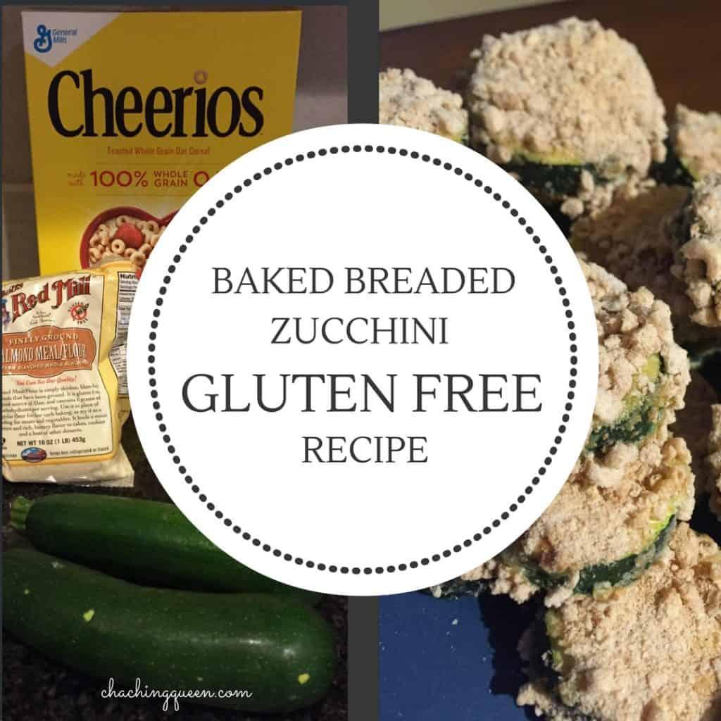 Baked Breaded Zucchini Recipe (Gluten Free Option)