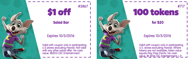 Rewards Calendars & Free Tokens. Remember Book It!? Well, Chuck E. Cheese brings the popular reading program into the 21st century with it's Rewards Calendar.
