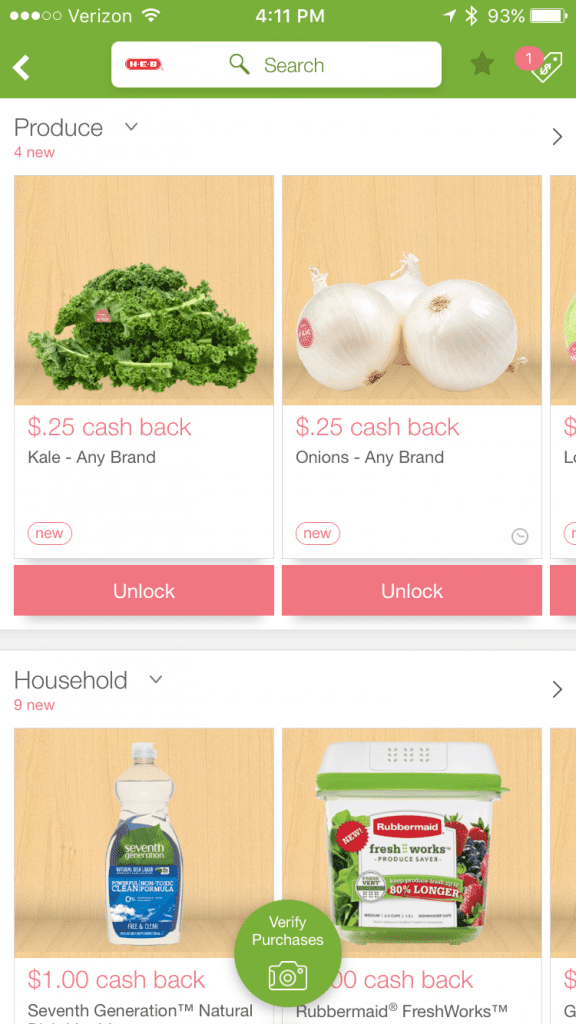 save money grocery shopping with Ibotta app healthy food coupons