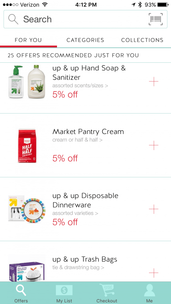 save money grocery shopping with target cartwheel app app