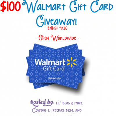 Giveaway: $100 Walmart Gift Card