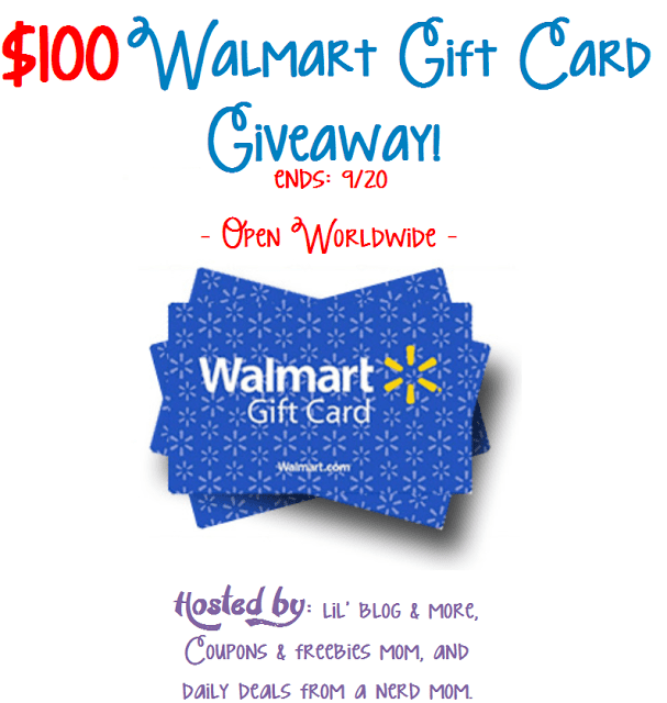 Giveaway: $100 Walmart Gift Card Giveaway - Enter to Win!