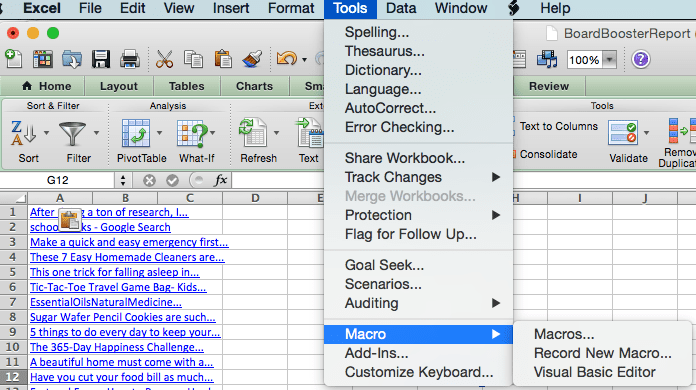 how to set hyperlink in excel