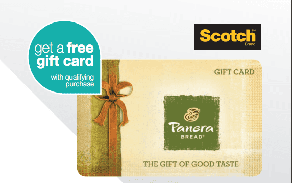 How to get the Free 10 Panera Gift Card with the Post-it® Brand & Scotch™ Brand Panera Bread® Gift Card Offer