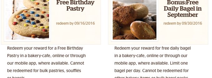 Panera Free Food for Panera Rewards Members - Free Daily Bagels and Free Pastry for Me!