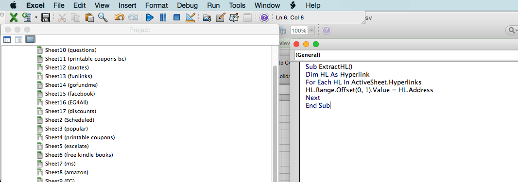 extract a url from hyperlink in excel instructions how to module visual basic editor