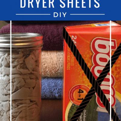 DIY Reusable Fabric Softener Dryer Sheets