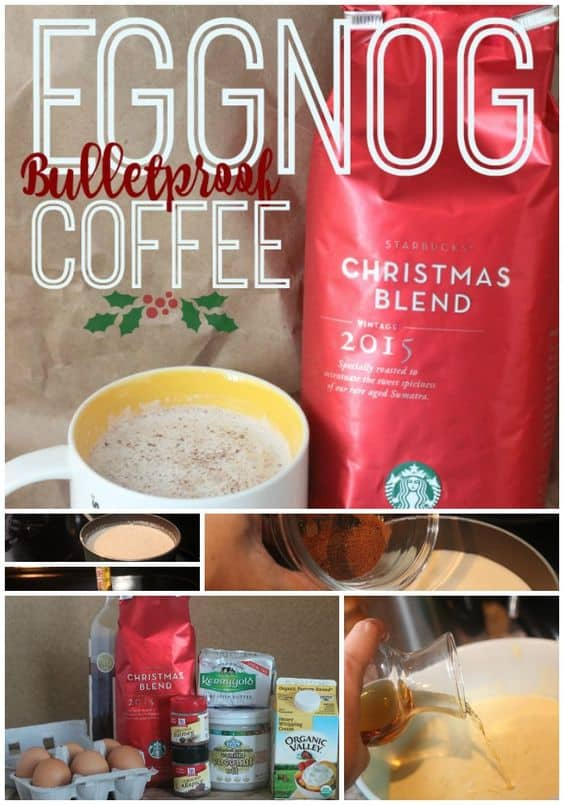 Eggnog Bulletproof Coffee recipe - christmas coffee for the holidays