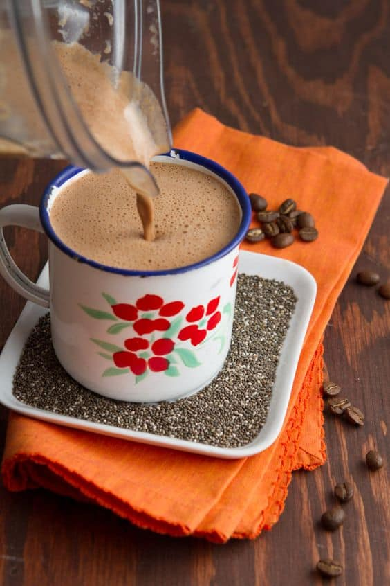 Keto Rocket Fuel Cafe Mocha Bulletproof Coffee Chia Seeds recipe