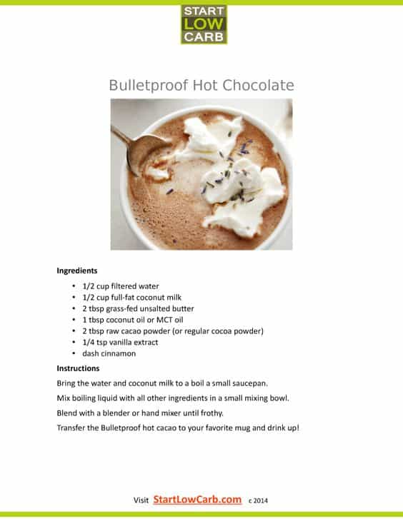 Hot Chocolate On Low Carb Diet