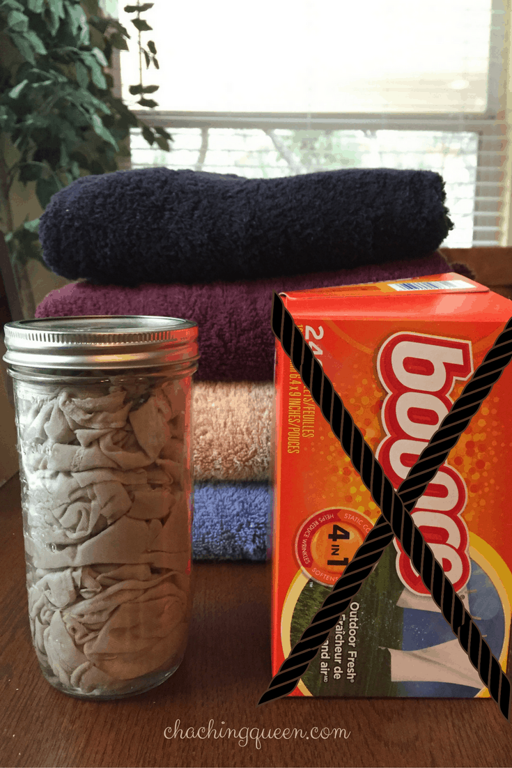 diy save money on laundry - how to make your own dryer sheets fabric softener