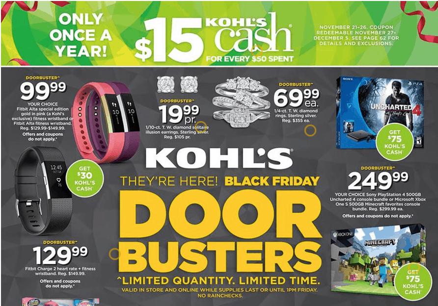 Kohls Black Friday Ad 2016