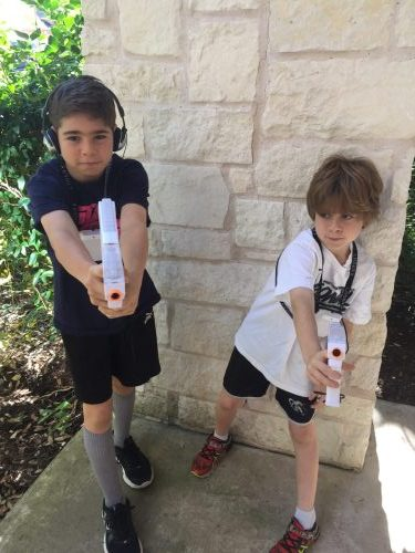 Laser X - Laser Tag System at Home Review outside boys