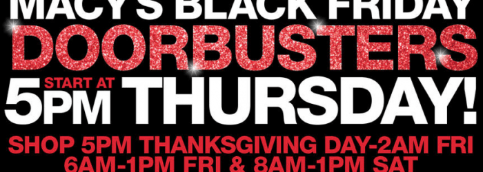 Macy's Black Friday Ad 2016 hours