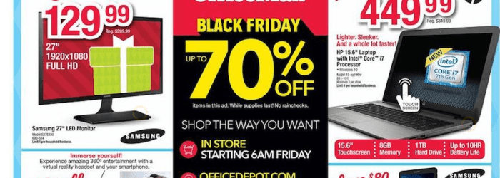 Office Depot and OfficeMax Black Friday Ad 2016