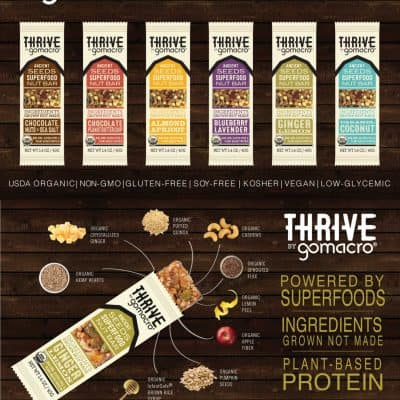 GoMacro Thrive Bars Review and Giveaway