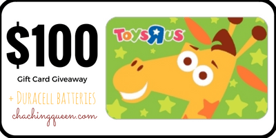 Toys R Us 100 Gift Card Giveaway Duracell Batteries