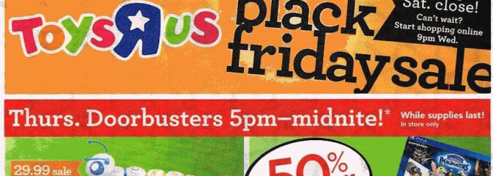 Toys R Us Black Friday Ad 2016