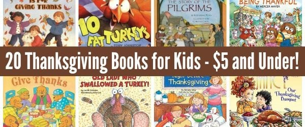list of thanksgiving books for kids under 5 dollars