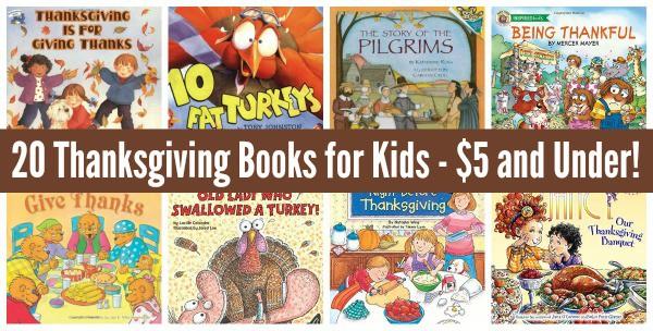 list of thanksgiving books for kids under 5 dollars