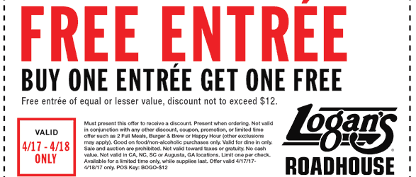 logans roadhouse printable coupon april 2017 tax day