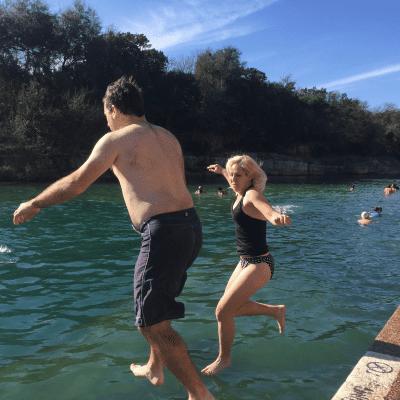 Bikinis in the Snow Week 1 – Polar Bear Splash at Barton Springs in Austin, Texas