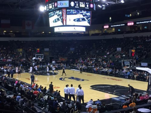 Bikinis in the Snow Week 4 - Embracing Sports as a Boy Mom austin spurs basketball game cedar park texas