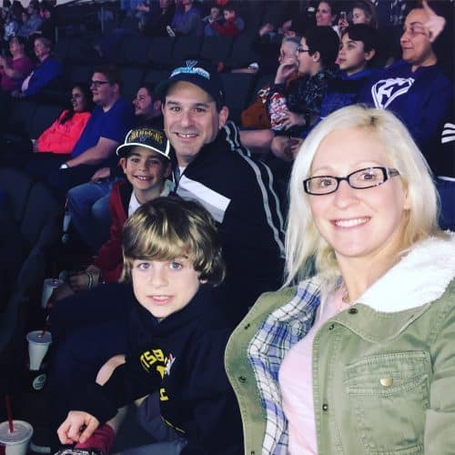Bikinis in the Snow Week 4 - Embracing Sports as a Boy Mom austin spurs basketball game