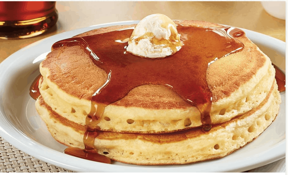 Denny's 2 4 6 8 Menu and All You Can Eat Pancakes
