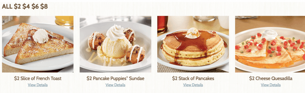 For Information on Denny's $2, $4, $6, $8, Menu and the $4 All You Can Eat Denny's Deal
