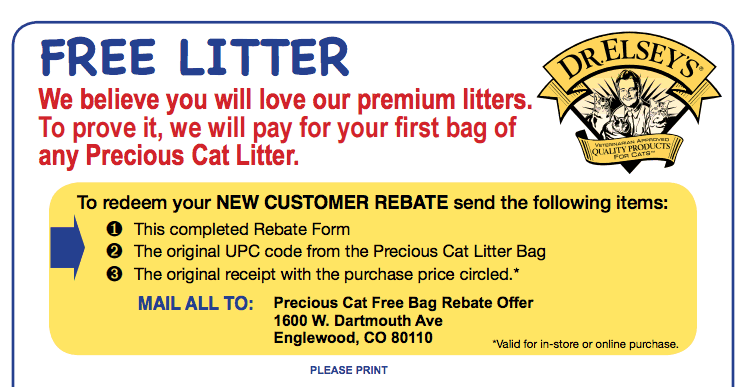 Get Free Cat Litter 40lb Bag – Free after Rebate, Here's the Info