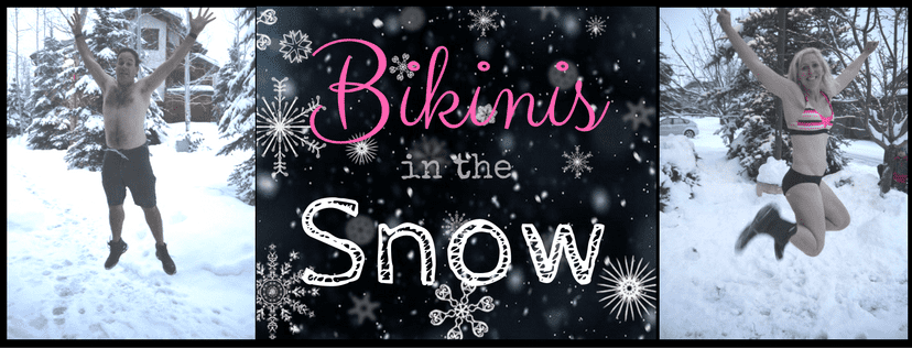 Movement for Self Improvement 2017 bikinis in the snow background