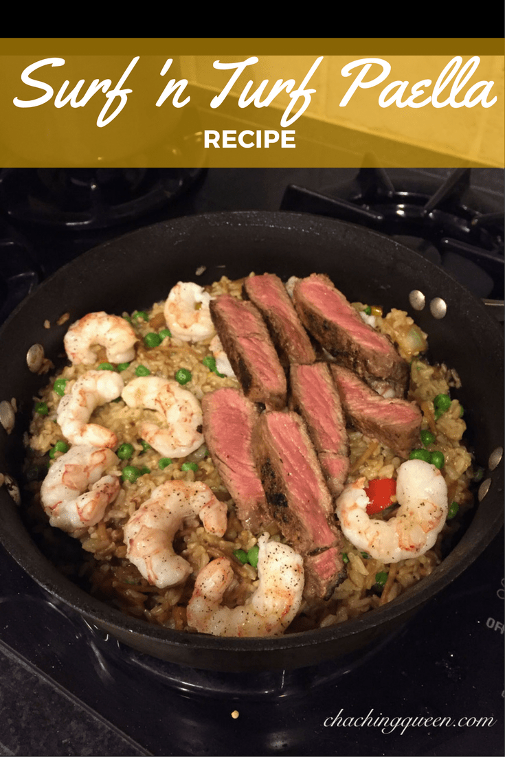 Surf n turf paella recipe cha ching queen surf n turf paella recipe forumfinder Choice Image