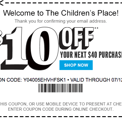 The Children's Place Coupons – Printable Coupons and Coupon Codes 2018
