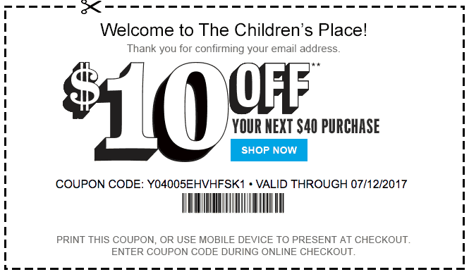 Childrensplace.com coupon code