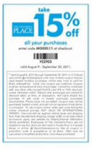 children's place coupon code