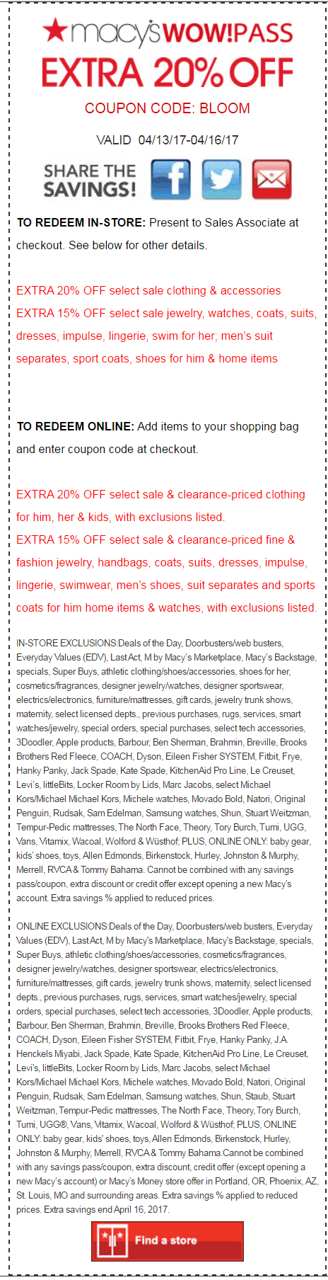 macys printable coupon april 2017 easter