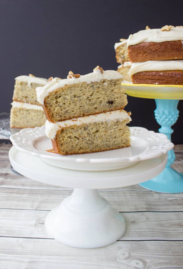 Banana Cake with Brown Sugar Cream Cheese Frosting recipe