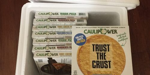CAULIPOWER ready-to-cook cauliflower crust pizza package