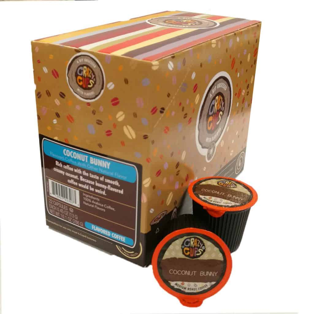 Giveaway crazy cups coconut bunny flavored coffee k cups