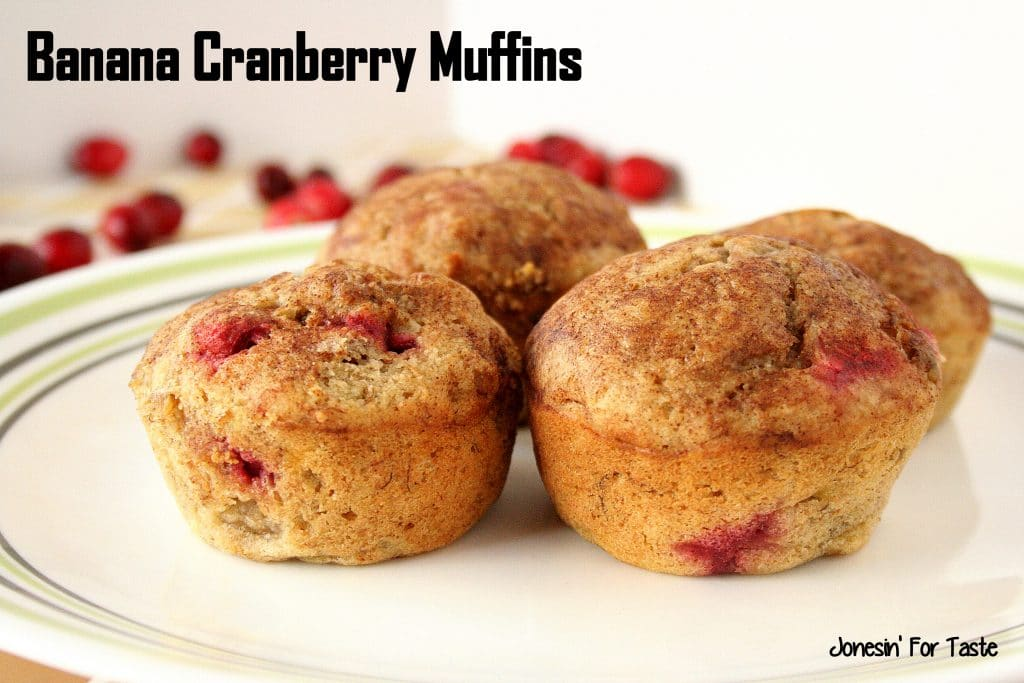Recipe for Banana Cranberry Muffins