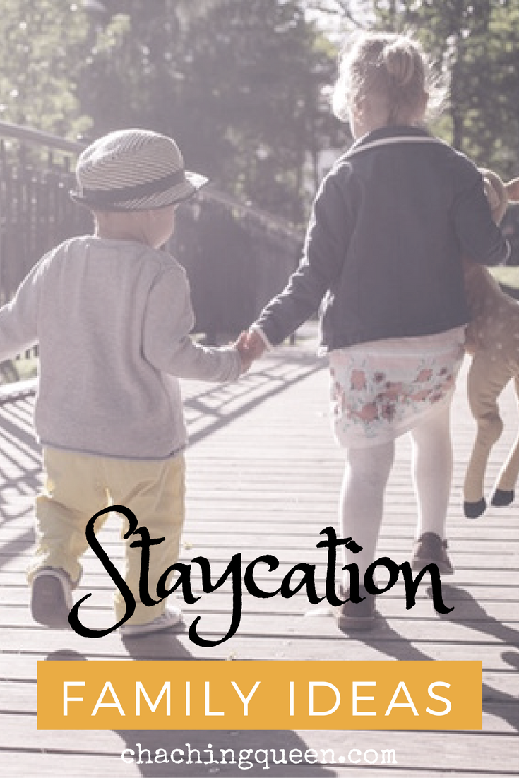 Family Staycation Ideas with the Kids for Christmas Break, Spring Break, Thanksgiving Break, and Summer Break. #familybudget #staycation #family #familytravel #parenting #frugal #chachingqueen