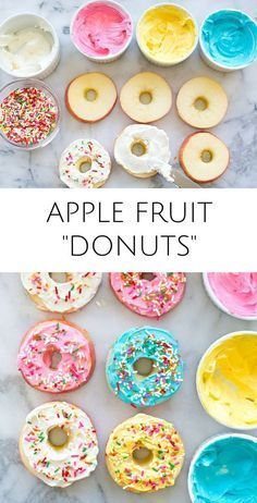 apple fruit donuts for healthy trolls party food
