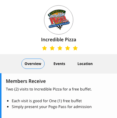 Incredible Pizza Printable Coupons and Discounts 2018 pogo pass coupon code
